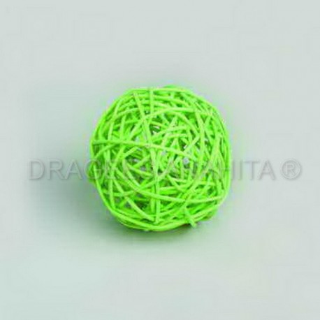 Boule rotin de couleur 6 cm