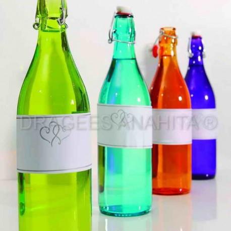 Etiquette pour bouteille imprimable X 24