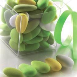 assortiment dragées amande vert