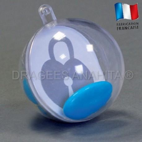 Boule à dragées transparente 5 cm