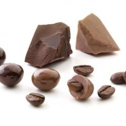 Grain de café au chocolat noir