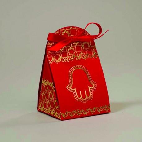 Boite à dragées Mariage Oriental rouge