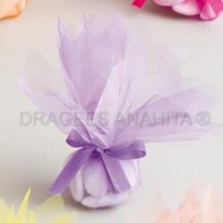 Tulle à  dragées de couleur lilas tulle à dragées pour mariage