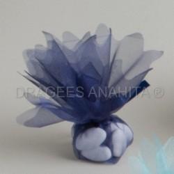 Tulle à  dragées de couleur bleu foncé tulle à dragées pour mariage