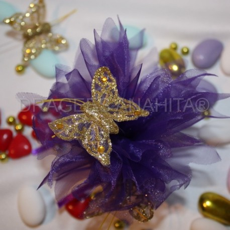 Papillon Or pour décoration boites à dragees