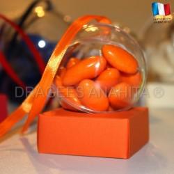 Support à dragées orange
