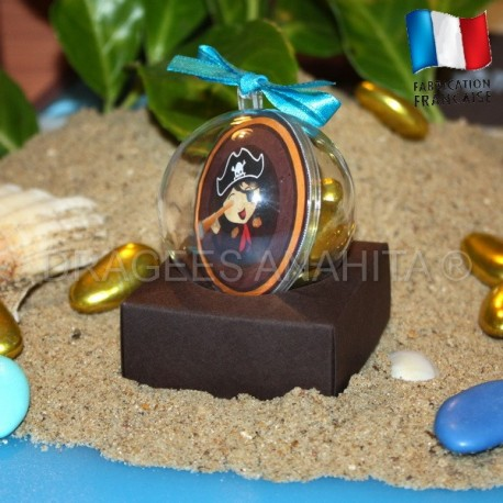Boule à dragées petit pirate