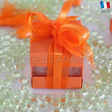 Cube à dragées orange