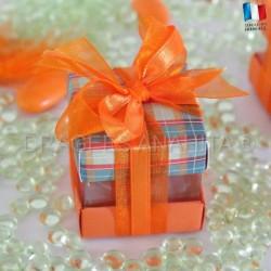 Cube à dragées écossais orange