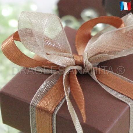 Cube à dragées chocolat