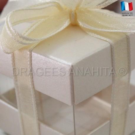 Cube à dragées ivoire nacré