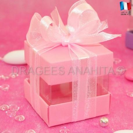 Cube à dragées rose