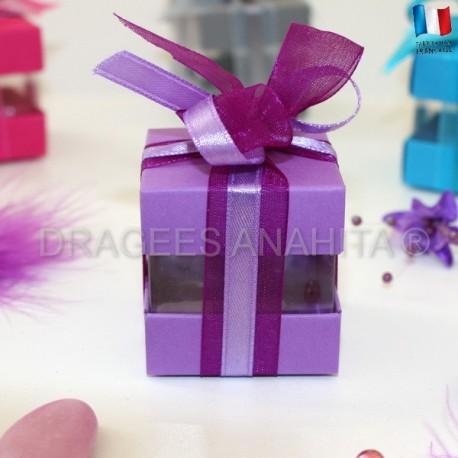 Cube à dragées lilas