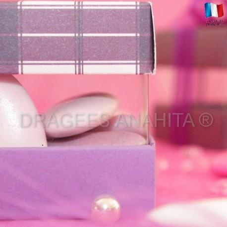 Cube à dragées écossais lilas
