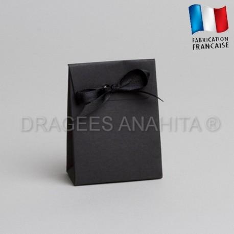 Mini pochon à dragées noir
