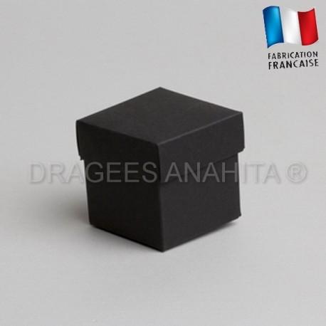 Cube uni à dragées noir