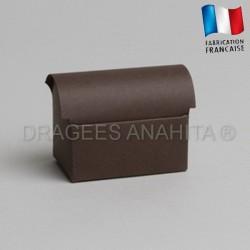 Mini coffre à dragées chocolat