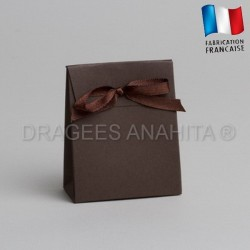 Mini pochon à dragées chocolat