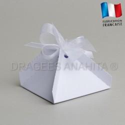 Boite a dragées pyramide blanche