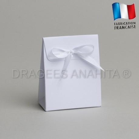 Mini pochon à dragées blanc