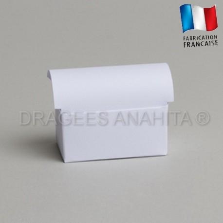 Mini coffre à dragées blanc