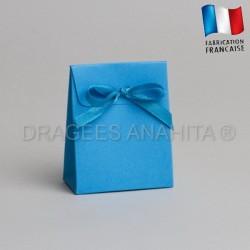 Mini pochon à dragées turquoise