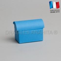 Mini coffre à dragées turquoise