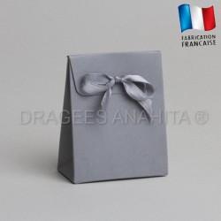 Mini pochon à dragées gris