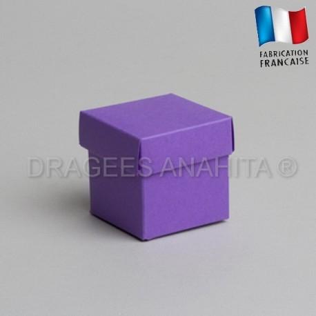 Cube uni à dragées lilas