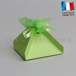 Boite a dragées pyramide vert