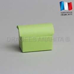 Mini coffre à dragées vert