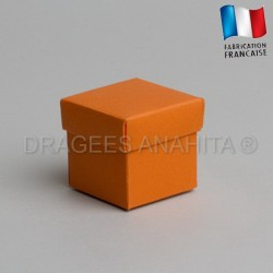 Cube uni à dragées orange