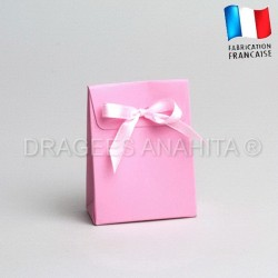 Mini pochon à dragées rose