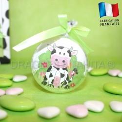 Boule à dragées thème vache