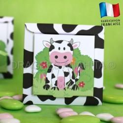 Boite pour dragées thème vache