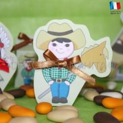 Ballotin à dragées cowboy