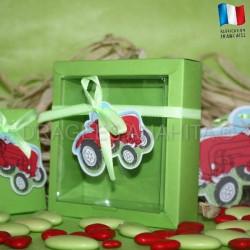 Boite pour dragées tracteur