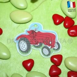 Etiquette pour dragées tracteur