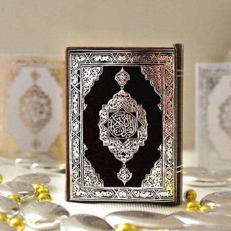 Boite à dragées Coran noir et argent