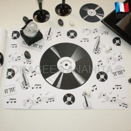 Set de table thème musique