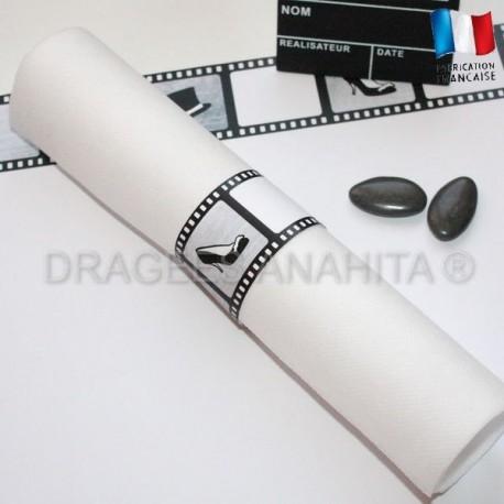 Rond de serviette Thème cinéma