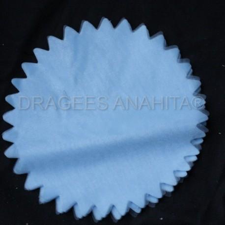 Tulle à dragées de couleur bleu clair