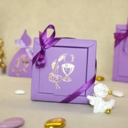 Contenant Calice lilas carré