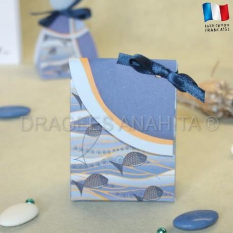 Pochon à dragées commuion Mer