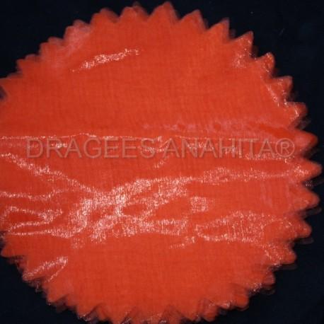 Tulle à dragées de couleur orange tulle à dragées pour mariage