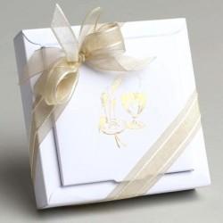 Grand contenant dragées Calice blanc