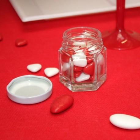 Pot à confiture a dragées en verre
