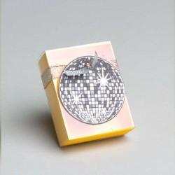 Pochette à dragées Disco Jaune