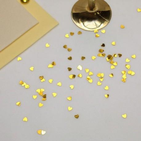 Confettis de table coeur brillant
