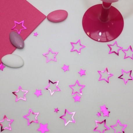 Confettis de table étoiles brillantes